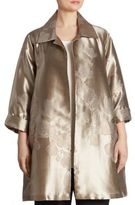 Caroline Rose Fine Vines Metallic Jacquard Jacket