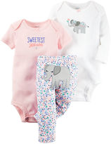 Carter's 3-pc Elephant Layette Set - Baby Girls newborn-24m
