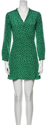 HVN Silk Mini Dress Green