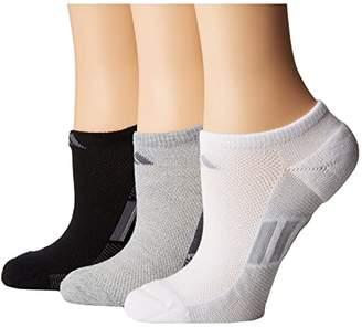 adidas Climacool(r) Superlite Stripe No Show Socks 3-Pack (Light Grey Heather/Onix/Night Grey/Black/Onix/Light Onix/White) Women's No Show Socks Shoes