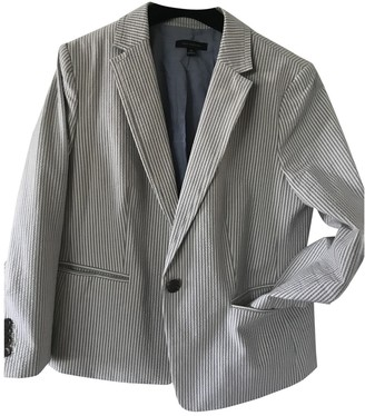 Ann Taylor Grey Cotton Jacket for Women