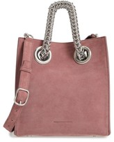 Alexander Wang Genesis Box Chain Square Suede Shopper - Pink