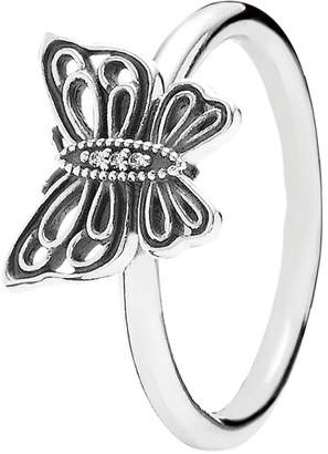 Pandora Love Takes Flight Silver Cz Butterfly Ring