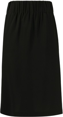 Aspesi Silk Straight Fit Skirt