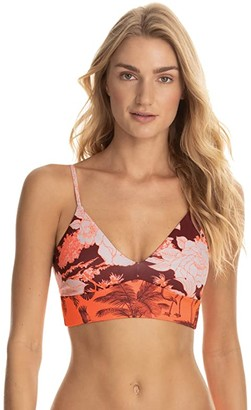 Maaji Fortune Teller Daydreams Longline Bralette Top (Red) Women's Swimwear