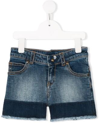 The Marc Jacobs Kids Stonewashed Denim Shorts