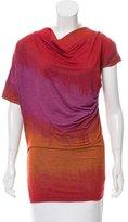 Vivienne Westwood Cowl Neck Dip-Dye Top