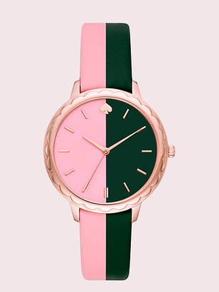 Kate Spade Morningside Scallop Bicolor Leather Watch