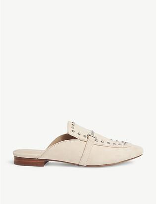 Aldo Vergemoli studded suede loafers