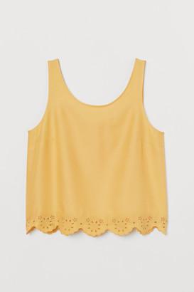 H&M Scallop-hemmed vest top