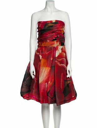Naeem Khan Silk Mini Dress Red