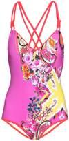 Etro Paisley-print double-strap swimsuit