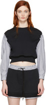 3.1 Phillip Lim Black Poplin Sleeves Pullover