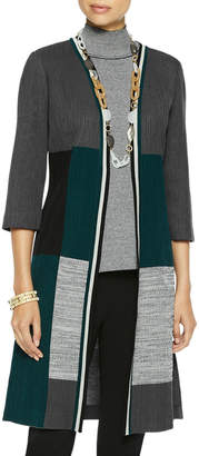 Misook Colorblock Knit Duster