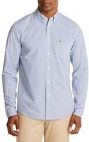 Lacoste Poplin Check Regular Fit Button Down Shirt