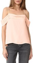 Alexander Wang Pleated Off The Shoulder Top Blush