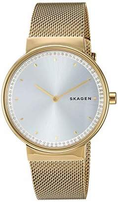 Skagen Women's Annelie Quartz Stainless Steel and Mesh Casual Watch Color: Gold