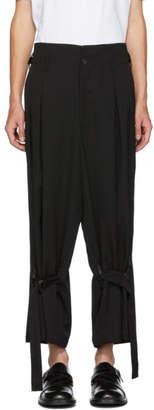 Yohji Yamamoto Black Strap Trousers