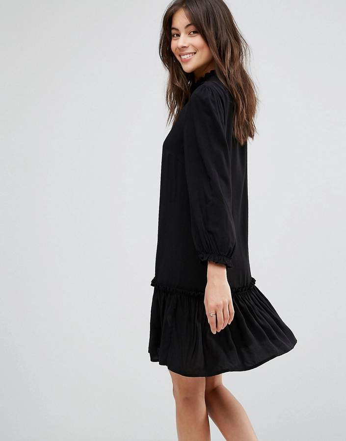 Only Woven Dress With Frill Hem