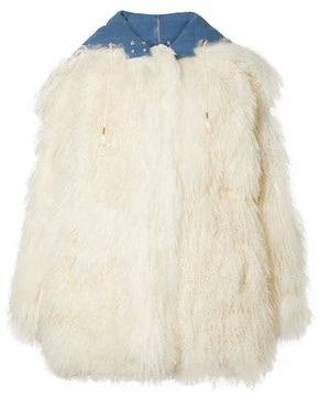 Calvin Klein Reversible Shearling And Cotton-gabardine Coat