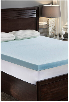 Loftworks 3In Jellysoft Gel Memory Foam Mattress Topper