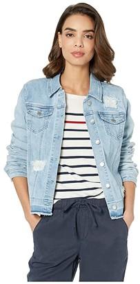 FDJ French Dressing Jeans Statement Denim Stripe Patch Jacket (Sky) Women's Coat