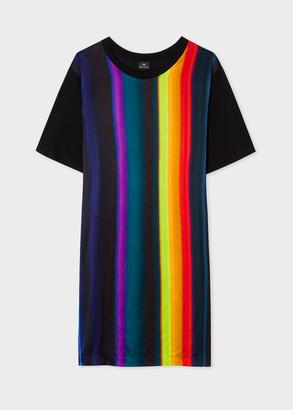 Paul Smith Women's Black 'Horizon Stripe' Print Jersey Dress