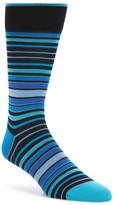 Bugatchi Men's Thick Stripe Crew Socks