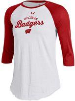Under Armour Women's Wisconsin Badgers Baseball Tee