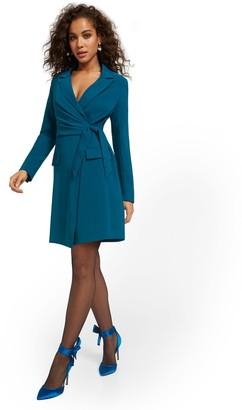 New York & Co. V-Neck Tie-Waist Blazer Dress
