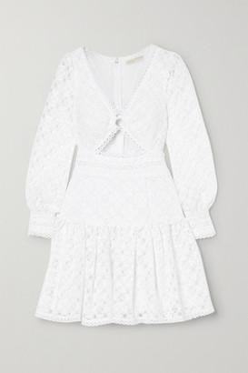 MICHAEL Michael Kors Cutout Corded Lace Mini Dress - White