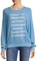 Wildfox Couture Graphic-Print Long-Sleeve Tee