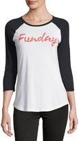 Signorelli Funday Baseball Tee, Light Cream/Vintage Black