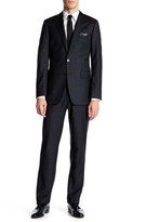 Calvin Klein Two Button Notched Lapel Wool Extreme Slim Fit Suit