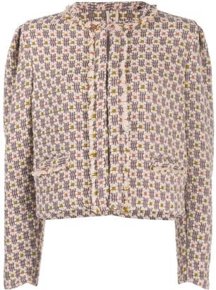 Isabel Marant Flower Motif Tweed Jacket