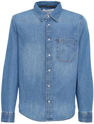 Calvin Klein Jeans Logo Cotton Denim Shirt
