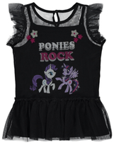 George My Little Pony Mesh Layered Top