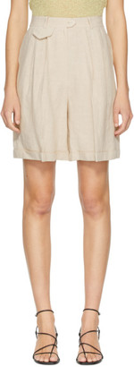 BEIGE AMOMENTO Mini Pocket Shorts