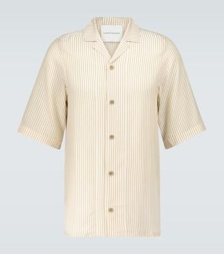 King And Tuckfield Striped bowling shirt