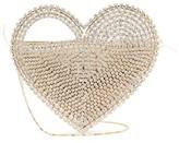 Rosantica Regina Crystal-embellished Heart Clutch Bag - Womens - Gold