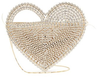 Rosantica Regina Crystal-embellished Heart Clutch Bag - Womens - Gold
