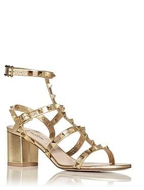 Valentino Women's Rockstud Strappy Block Heel Sandals