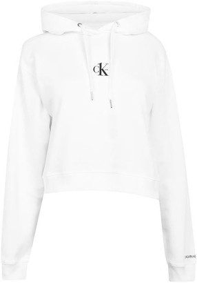 Calvin Klein Jeans Print Cropped Hoodie