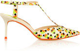 Sophia Webster Ida printed neon leather pumps