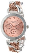 Akribos XXIV Women's AK564TTR Multi-Function Mesh-Link Bracelet Watch