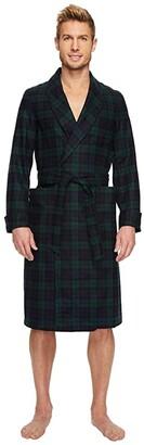 Pendleton Lounge Robe (Black Watch Tartan) Men's Robe