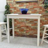 Carolina Cottage Cafe Antique White Pub/Bar Table