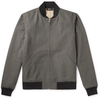 A.P.C. Gaston Checked Cotton Bomber Jacket