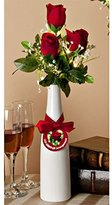 "Gerson 37241 - 17.5"" TRIPLE ROSE BUD AND BABYS BREATH LIGHTED ARRANGEMENT Battery Operated Lighted Blossoms and Flowers"