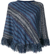 M Missoni fringed knit poncho